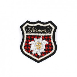 Iron on patch Blason Forever - rouge
