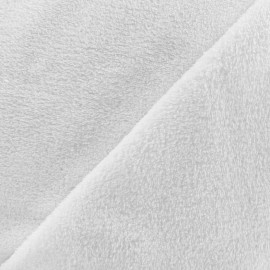 Plain Piloudou fabric - white x 10cm