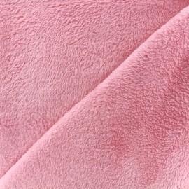 Plain Piloudou fabric - pink x 10cm