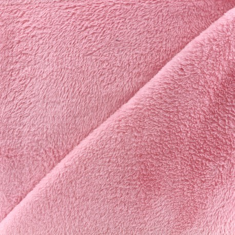 Tissu Piloudou uni - rose x 10cm