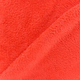 Plain Piloudou fabric - orange x 10cm