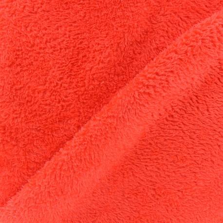Tissu Piloudou uni - orange x 10cm