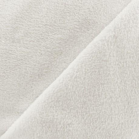 Tissu Piloudou uni - écru x 10cm