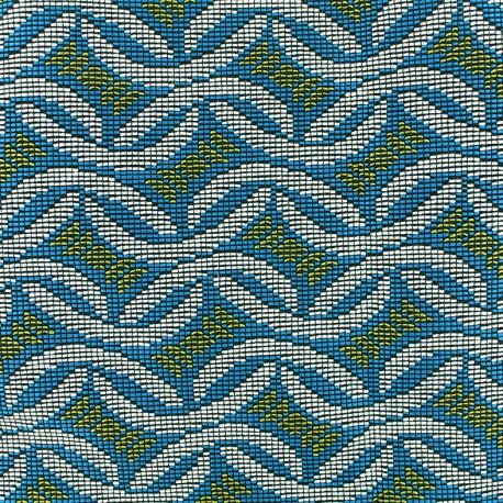 Quilted aspect weaved Babacar - carib x 10cm