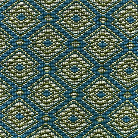 Tissu jacquard tissé Copacabana - multicolore x 10cm
