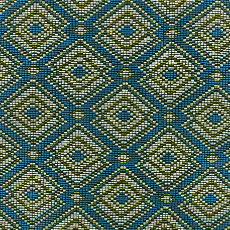 Quilted aspect weaved Copacabana - multi x 10cm
