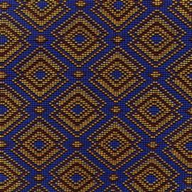 Tissu jacquard tissé Kirikou - azur x 10cm