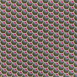 Cotton fabric Plume - fuchsia x 10cm