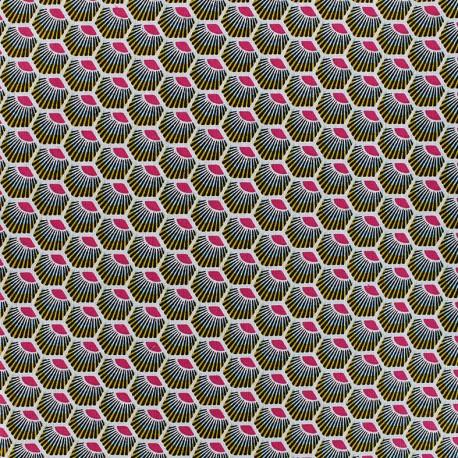 Tissu coton Plume - fuchsia x 10cm