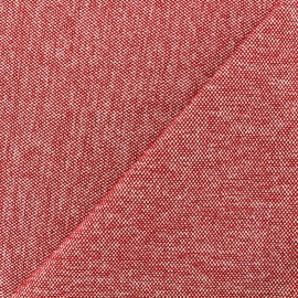 Tissu jacquard velours Caoba - rouge x 10cm