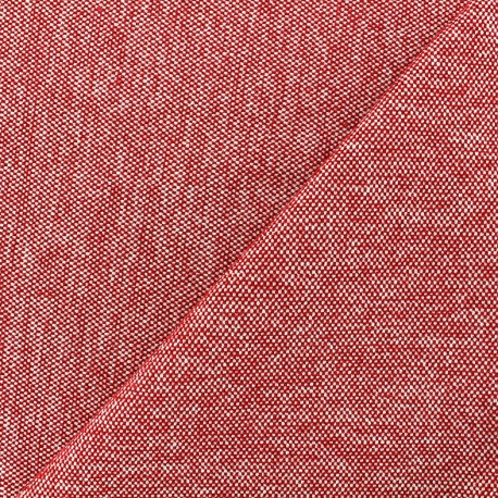 Velvet jacquard fabric Caoba - red x 10cm