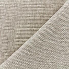 Velvet jacquard fabric Caoba - linen x 10cm