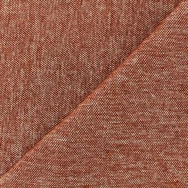 Velvet jacquard fabric Caoba - brick x 10cm