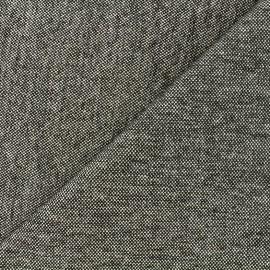Velvet jacquard fabric Caoba - anthracite x 10cm