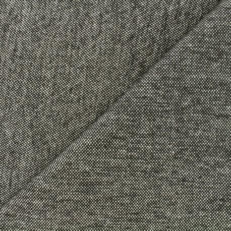 Tissu jacquard velours Caoba - gris anthracite x 10cm
