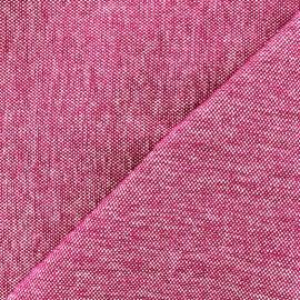 Tissu jacquard velours Caoba - fuchsia x 10cm