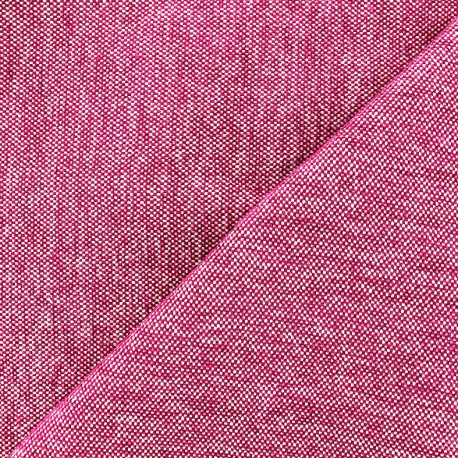 Velvet jacquard fabric Caoba - fuchsia x 10cm