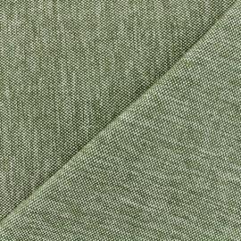 Tissu jacquard velours Caoba - olive x 10cm