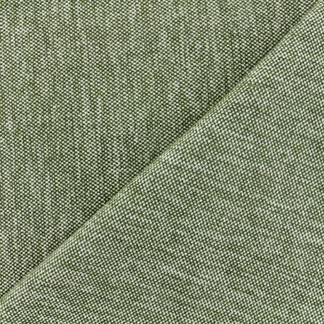 Velvet jacquard fabric Caoba - olive x 10cm