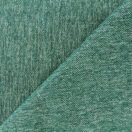 Tissu jacquard velours Caoba - pétrole x 10cm