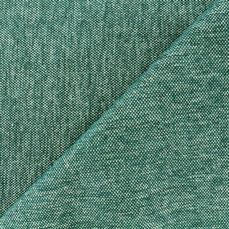 Velvet jacquard fabric Caoba - petrol x 10cm