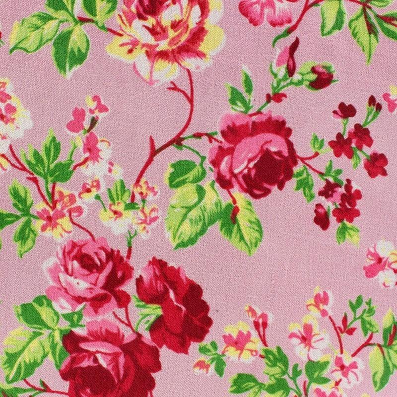 tissu velours ras fleuri rose x 10cm ma petite mercerie. Black Bedroom Furniture Sets. Home Design Ideas