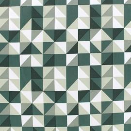 Tissu déperlant nano-tex Remix - vert x 10cm