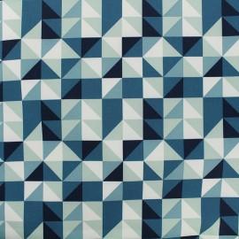 Tissu déperlant nano-tex Remix - bleu x 10cm