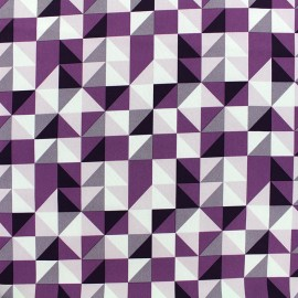 Tissu déperlant nano-tex Remix - violet x 10cm
