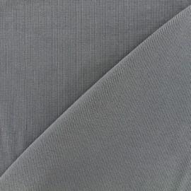 Tissu jersey tubulaire bord-côte 1/2 - gris x 10cm