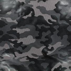 Tissu Lycra épais Camouflage - gris foncé x 10cm
