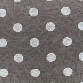 Tissu jersey viscose Polka - blanc/gris x 10cm