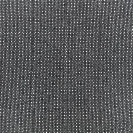Tissu jacquard gaufré Small dots - anthracite x 10cm
