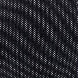 Tissu jacquard gaufré Small dots - marine x 10cm