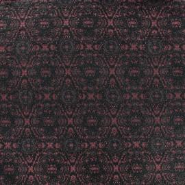Tissu jacquard damassé Rococo - carmin x 10cm