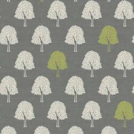 Makower UK cotton fabric Heartwood Trees - grey x 10cm