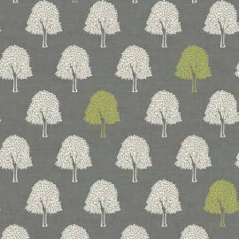 Tissu coton Makower UK Heartwood Trees - grey x 10cm