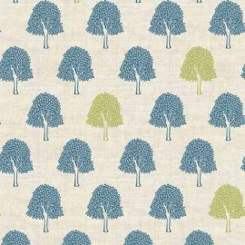 Tissu coton Makower UK Heartwood Trees - linen x 10cm
