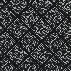 Tissu coton Black and white - Lattice dots x 10 cm