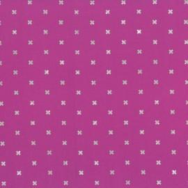Tissu coton basics - plummy metallic x 10cm