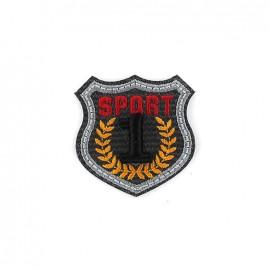 Thermocollant Blason brodé Sport 1 - gris