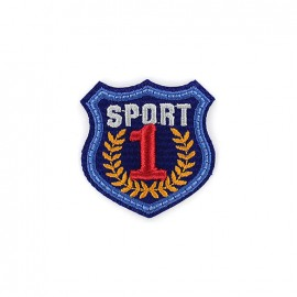 Thermocollant Blason brodé Sport 1 - bleu
