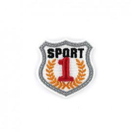 Thermocollant Blason brodé Sport 1 - blanc