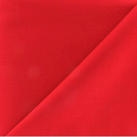 Tissu Coton uni - rouge vif x 10cm