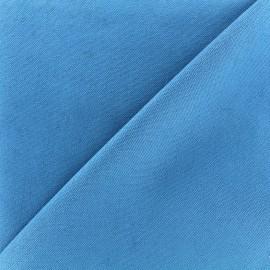 Tissu toile de coton uni CANEVAS - bleu x 10cm