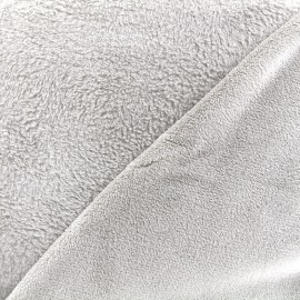 Plain Piloudou fabric - pearl grey x 10cm