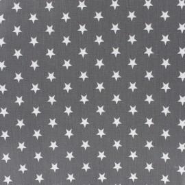 Tissu enduit coton Poppy Etoile - blanc/gris x 10cm