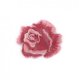 Thermocollant Rose brodée - rose