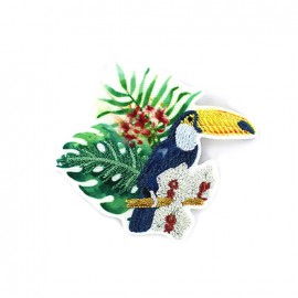 Iron on patch Jungle - toucan