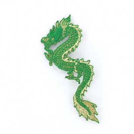 Iron on patch Dragon de Chine - green